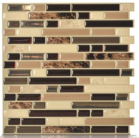 peel and stick kitchen backsplash art3d 12 quot x 12 quot peel and stick backsplash tiles for