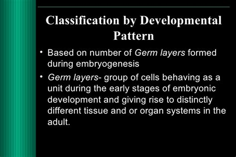 classification pattern of development classification and nomenclature