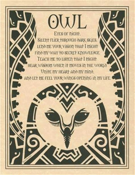 owl symbolism pure spirit tarot mom owl raven common totem birds for witches