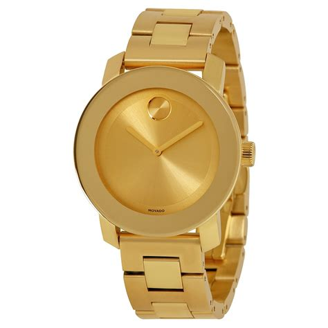 movado bold chagne yellow gold stainless steel