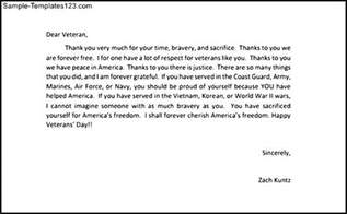 Thank You Letter Writing Examples post thank you letters to veterans example inspired you and help you