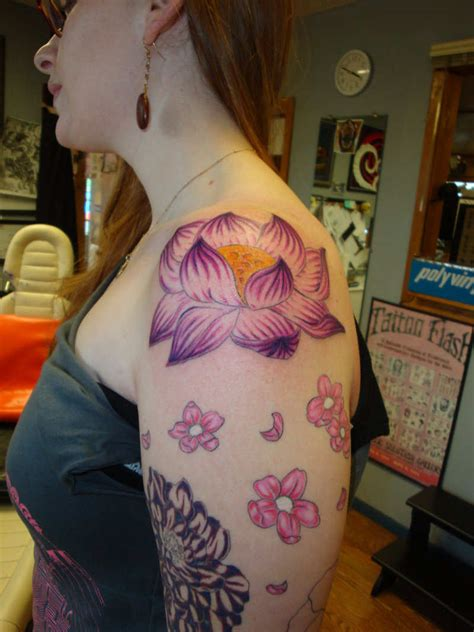 womans tattoo designs flower designs for design