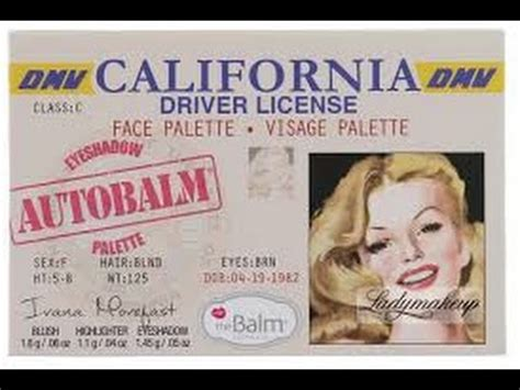 Palatte California By The Balm revinpills the balm autobalm california palette