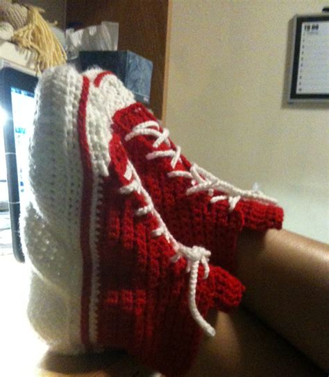 crochet converse slippers pattern free experiments in crochet converse slippers pattern