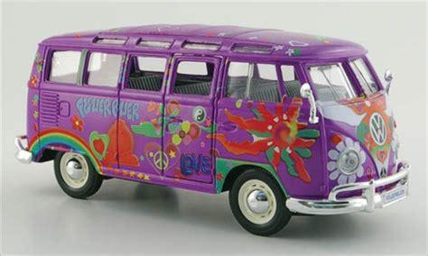 bmw hippie van volkswagen t1 miniature samba bus hippie lila dekor maisto