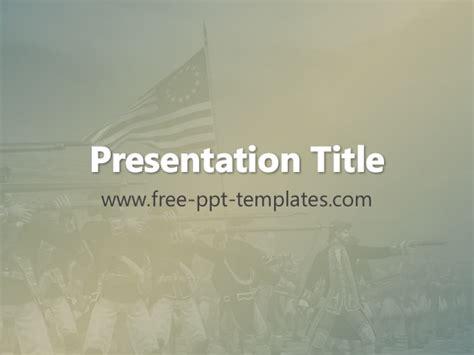 template powerpoint war american revolutionary war ppt template