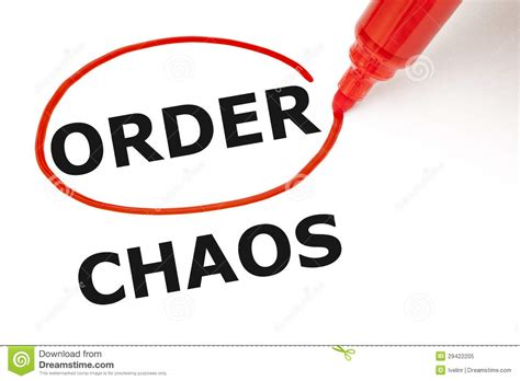order a order or chaos royalty free stock photo image 29422205