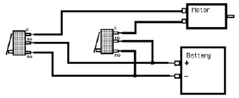 switches circuit for a dc motor with 2 microswitches