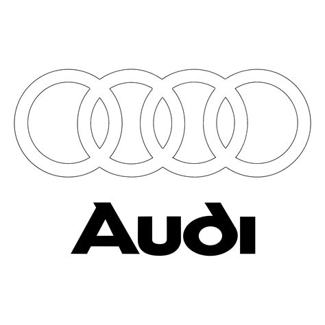 audi logo black and white audi logo png transparent svg vector freebie supply