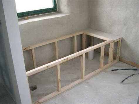 How To Make A Frame For A Bathroom Mirror Tub Framing Ideas Bathtub Installation With Mortar