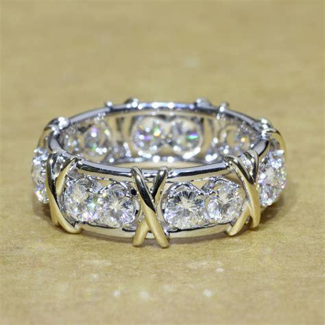 popular moissanite eternity ring buy cheap moissanite