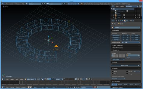blender 3d array empty plain axes rotation by the tinkers workshop step by step blender 3d staircase