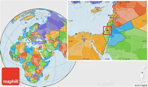 where is jerusalem on the world map political location map of jerusalem