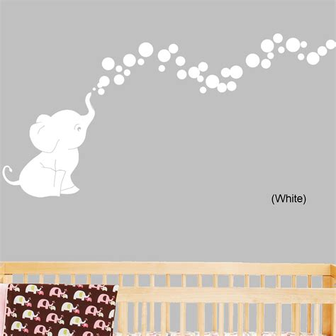 bobee baby elephant wall decals for nursery