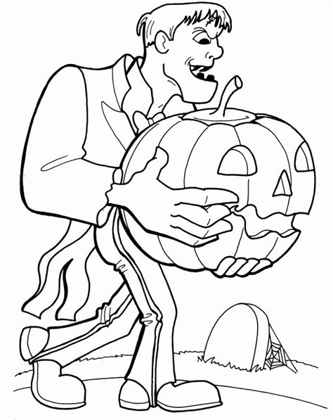 frankenstein coloring page coloring home