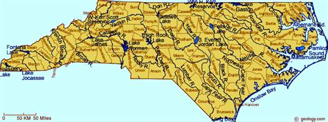 map of carolina rivers carolina map rivers lakes bays and sounds