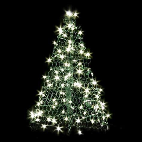 tree in lighted pot shop crab pot trees 2 ft freestanding tree light display with white led lights at lowes