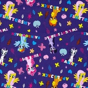 color purple character names cotton fabric character fabric my pony ombre
