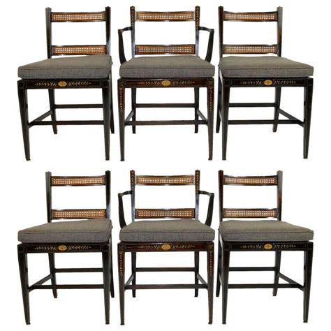 Regency Style Dining Chairs Set Of Six Regency Style Dining Chairs For Sale At 1stdibs