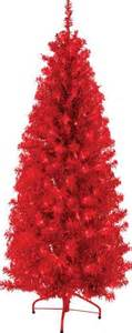 6 pre lit 300 light red tinsel tree at menards