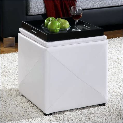 modus upholstered milano blanket storage bench white modus milano bedroom storage bench in white leatherette