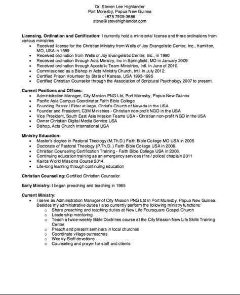 Christian Counselor Sle Resume by Resume Sle For Christian Counselor Resumes Design