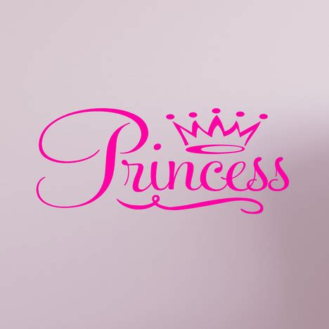 princess crown wall decal quote sticker removable nursery