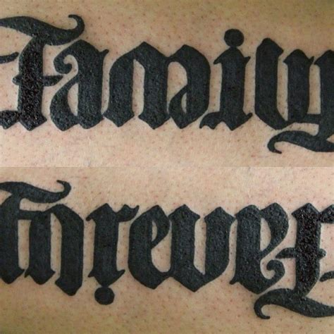 family forever tattoos black ink family forever ambigram