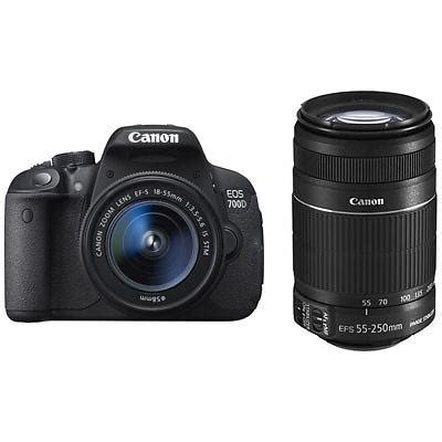 canon eos 700d + 18 55/3.5 5.6 is stm + 55 250/4.0 5.6 is