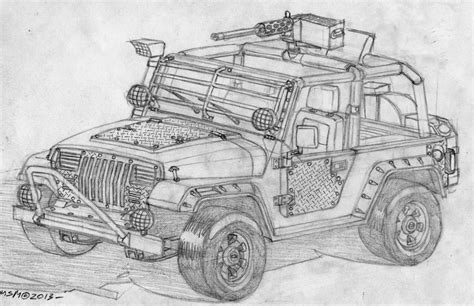 4 door jeep drawing post apocalyptic jeep wrangler by redspider2008 on deviantart