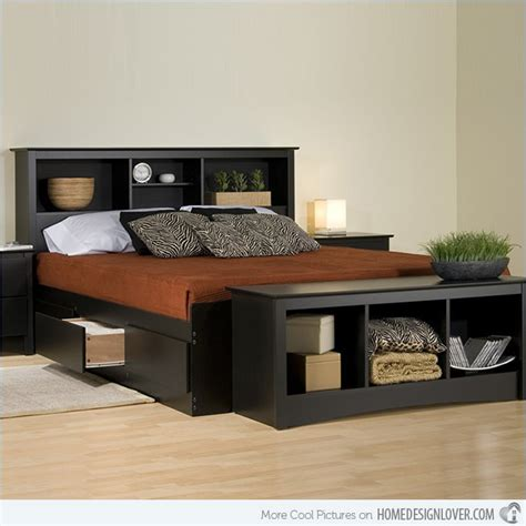 Bed Frame With Shelves Combine And Function In 15 Storage Platform Beds