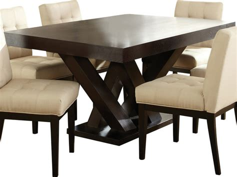 steve silver pedestal dining table in espresso