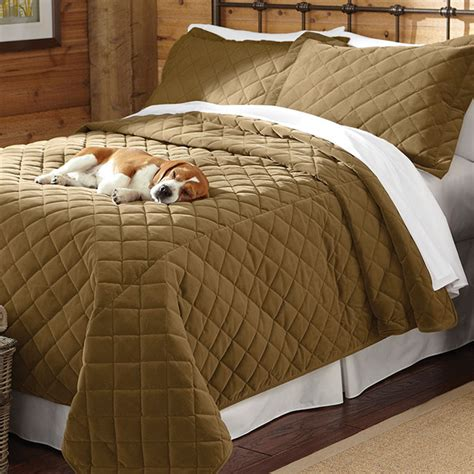dog proof coverlet dog proof bedding quilted coverlet and shams orvis