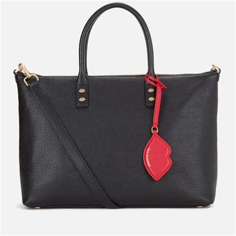 Lulu Guinness Striped Maddy Tote by Lulu Guinness S Frances Medium Tote Bag With Lip
