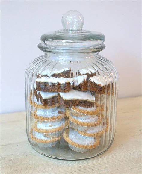 large ridged glass biscuit jar by ella james