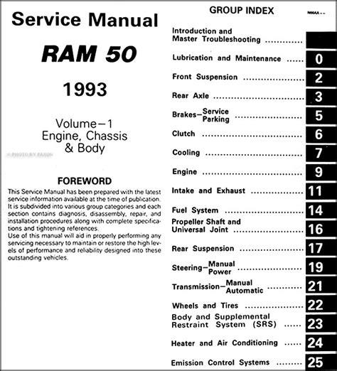 car engine repair manual 1993 dodge ram 50 engine control 1993 dodge ram 50 truck repair shop manual original 2 volume set