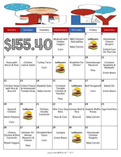 excel menu planner menu planner excel monthly spreadsheet template