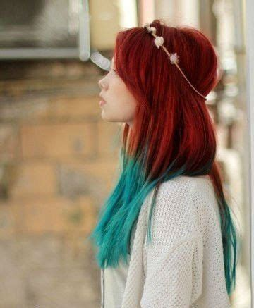 dye bottom hair tips still in style handmade mermaid red ombre dip dyed hair extensions tye