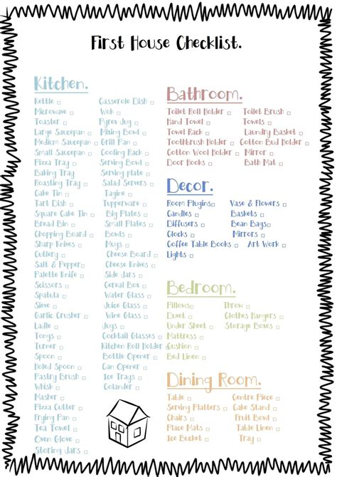 things to buy for first home checklist free printable check list for the essentials to buy for a