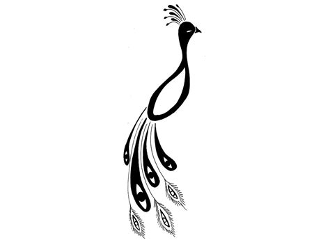 simple feather tattoo designs simple peacock sketch