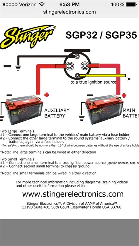 stinger battery isolator wiring diagram wiring diagram