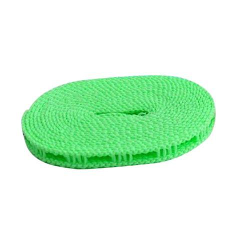 tali jemuran panjang hingga 5m jual starhome tali jemuran gantungan baju hijau 5 m