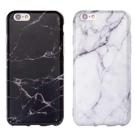 Soft Black White Flower For Iphone 6 6s white black marble pattern soft tpu phone cover for apple iphone 6 6s plus ebay