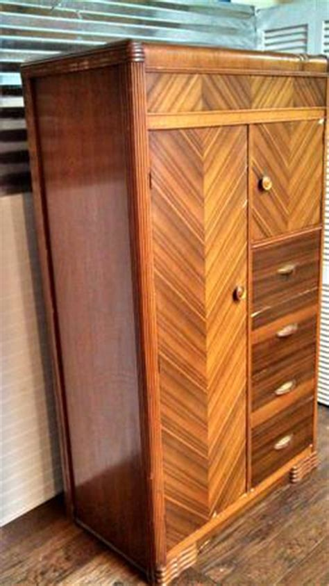 Antique Cedar Armoire by Sold Antique Wardrobe Waterfall Style Cedar Chifferobe Armoire Stayingvintage