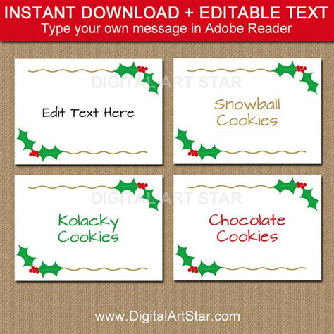 food cards for buffet template printable buffet cards labels with gold