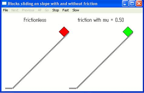 sliding of two blocks with and without friction