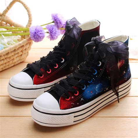 harajuku shoes harajuku galaxy glow platform canvas shoes 183 kawaii