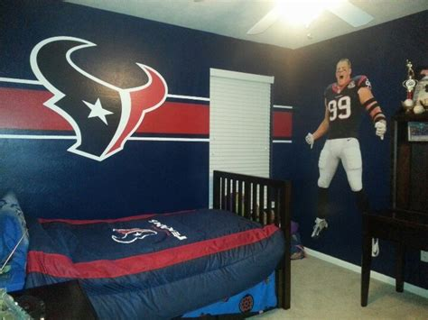 Texans Comforter My Son Wanted A Texans Room For His Birthday So Blue Paint
