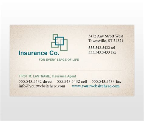 Professional Business Card Template For Insurance Broker With Photo by Archives Canfilecloud