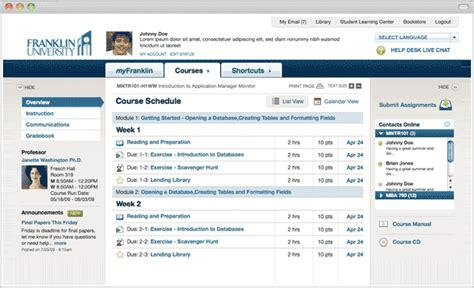 design of application software web application design online college education